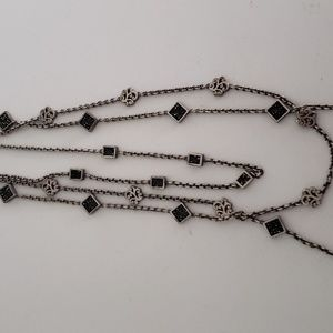 Lois Hill 3 strand pure silver necklace